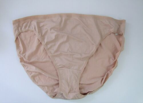 M /& S Size 8 NO VPL High Leg Knickers Panties Briefs microfibre silky Natural
