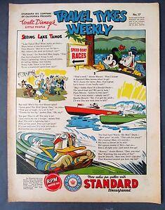 1939 Disney TRAVEL TYKES WEEKLY #17 Standard Oil premium. higher grade