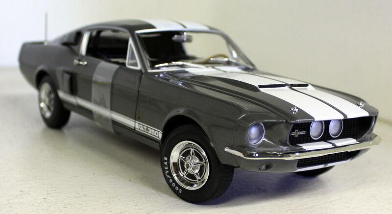 Ertl 1   18 - skala - 1060 1967 shelby gt-350 flachen grauen ein diecast modell - auto