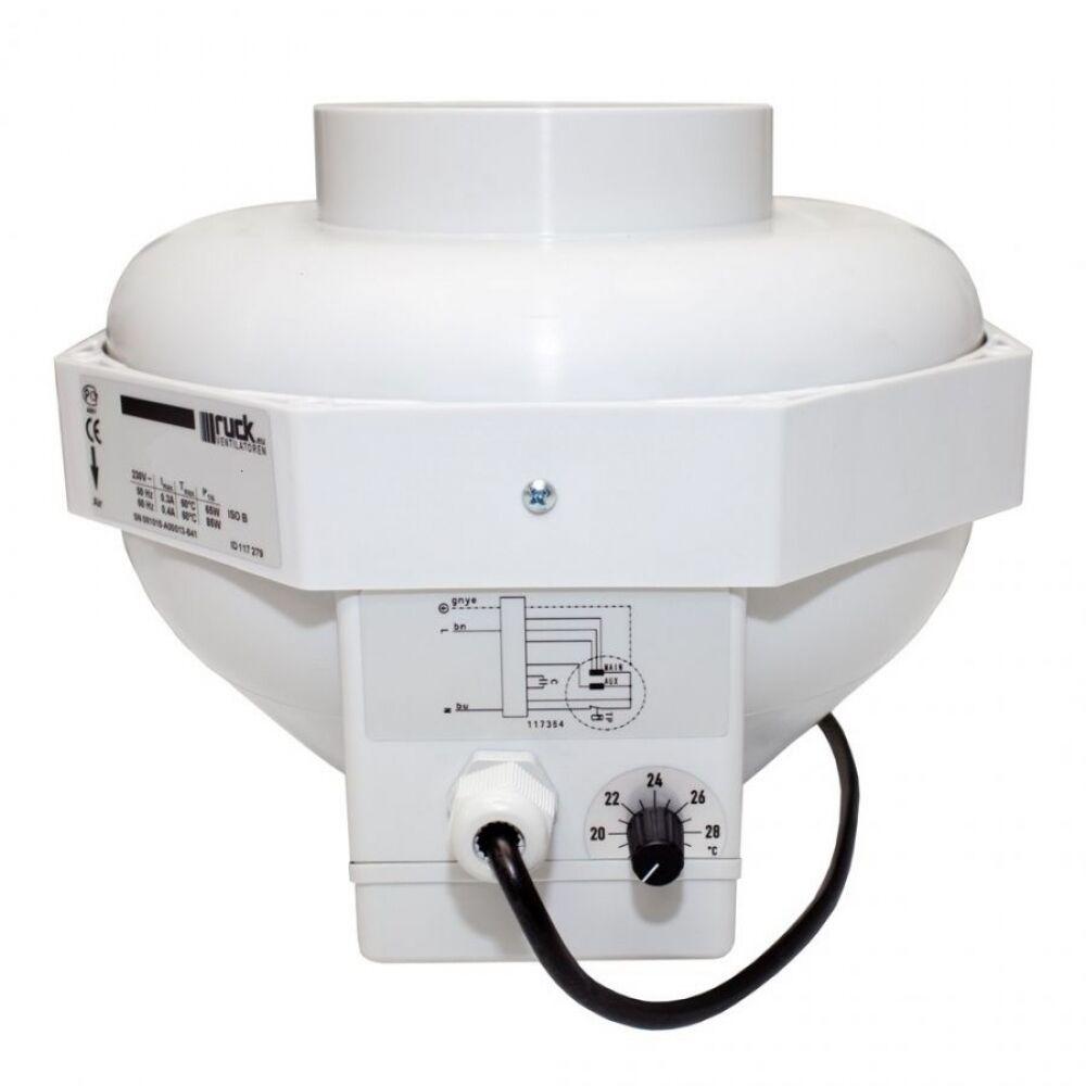 Lüfter Lüfter Lüfter Rohrventilator mit Thermokontroller Can Fan 460m³ h Grow 16cm Anschluss 6e1c7e