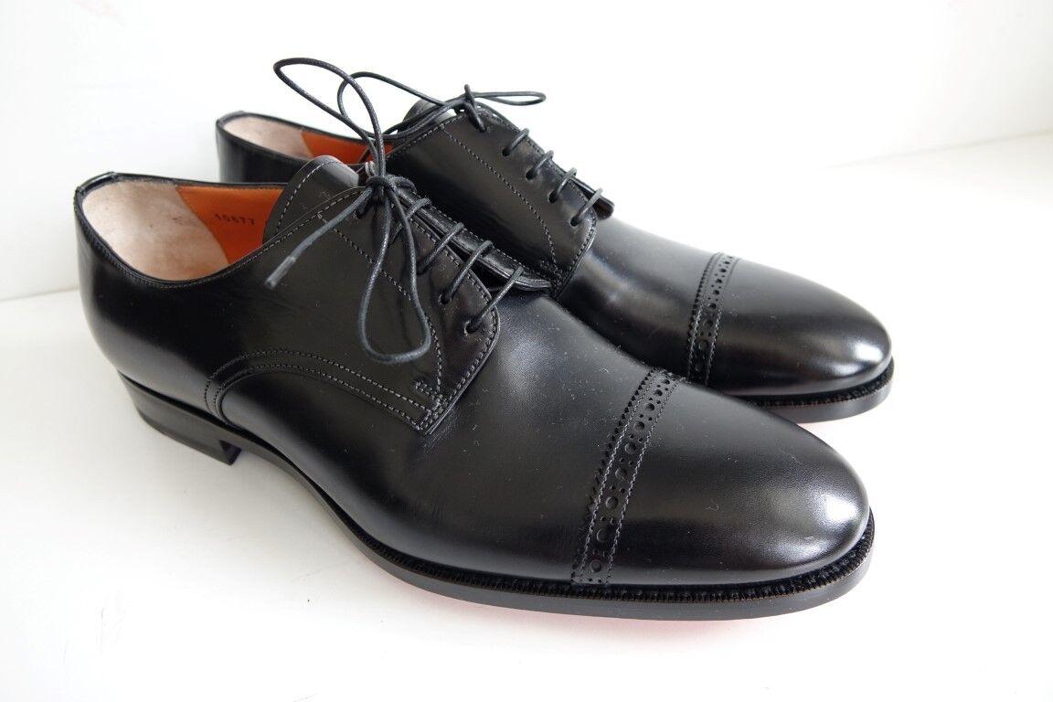 SANTONI Schuhe Herrenschuhe Businessschuhe - GR. 9,5 (43,5) - NEU ORIGINAL   | Eleganter Stil