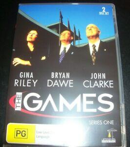 The-Games-Gina-Riely-John-Clarke-Series-1-Australian-All-Region-DVD-Like-New
