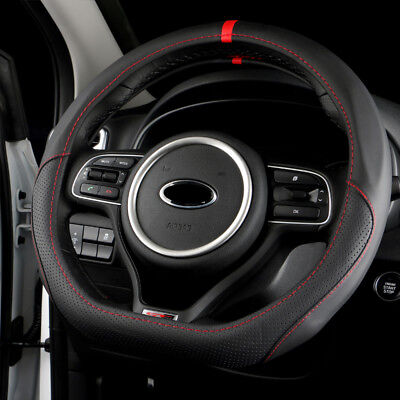 Hand-Stitch Sew Leather Steering Wheel Cover For Kia K5 2016 Sportage 4 KX5 2016
