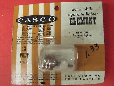 VINTAGE CASCO CAR LIGHTER ELEMENT 12V L145C PONT 56+ CHEVY 55+ FREE US SHIP