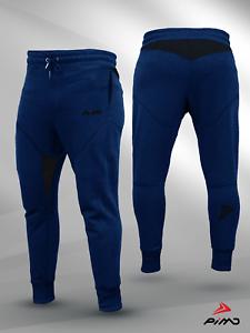 PIMD Trim Blue Mens Gym Bottoms Slim Fit Joggers Fleece Jogging Sweatpants