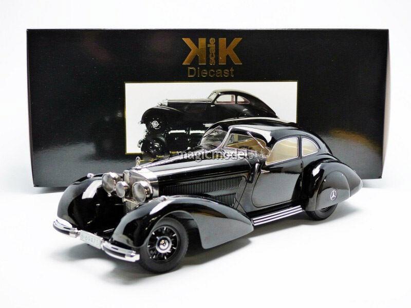 KK SCALE MODELS 1938 MERCEDES BENZ 540 Autobahnkurier Noir édition limitée de 3000 1 18 NOUVEAU