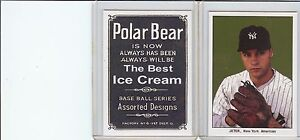 Rare Derek Jeter New York Polar Bear Reprint Card Mint (A-65)