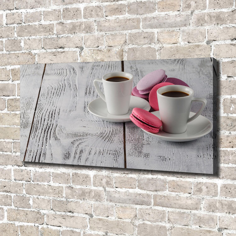 Leinwandbild Kunst-Druck 140x70 Bilder Essen & Getränke Kaffee Kekse