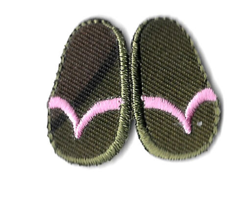 Shoes Pair Summer Flip Flops Sandals Embroidered Iron On Patch