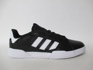 854aa5a8ad Details about Adidas VRX Low Black White Leather Classic Sz 11 DB3176