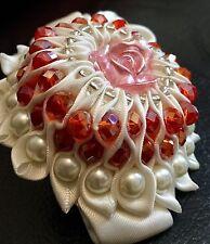 Bridal Wedding Bridesmaid Prom Hair Fauxl Pearl And Crystal Flower Hair Band