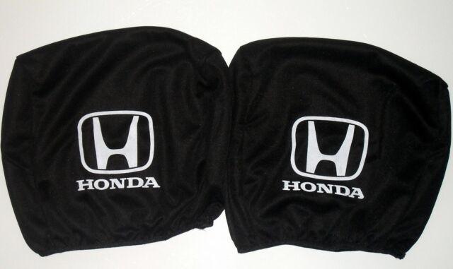 2x Black Headrest Covers for Honda All Models
