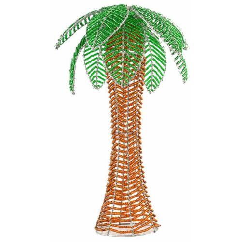 BEADWORX ~ SMALL PALM TREE~ BEADED TREE ~ HAND CRAFTED GIFT ~ ORNAMENT~