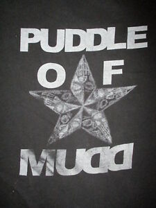 PUDDLE OF MUDD CONCERT T SHIRT Band Star vtg 2-Sided World