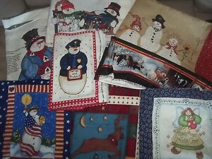 CHRISTMAS-holiday-WINTER-PANEL-Cotton-QUILT-Fabric-U-PICK-see-listing-for-info