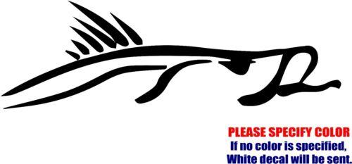 "Snook Fish Fishing JDM Funny Vinyl Decal Sticker Car Window Bumper Laptop 12/"""