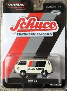Schuco x Tarmac Works 1//64 Volkswagen T3 Van Audi Sports
