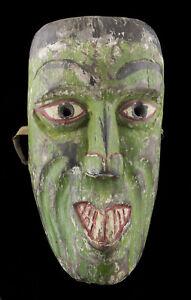 Antico-Maschera-Sciamano-Nepalese-Legno-Himalaya-Animista-Tibet-Nepal-25994
