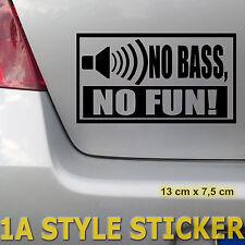 no bass no fun aufkleber i love bass sticker subwoofer 30cm 40cm endstufe w