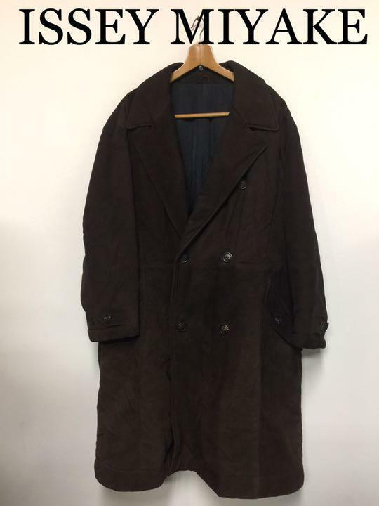 Issey Miyake Men's Leather Coat Size M Brown Good condition From JAPAN F S
