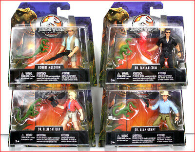 JURASSIC WORLD LEGACY COLLECTION  DR ALAN GRANT ELLIE SATTLER MULDOON LOT PARK