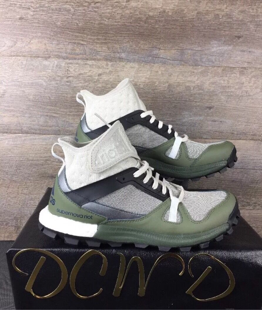 Adidas Super Nova Riot Shoes Size 9 Mens Grey Green  BB3949