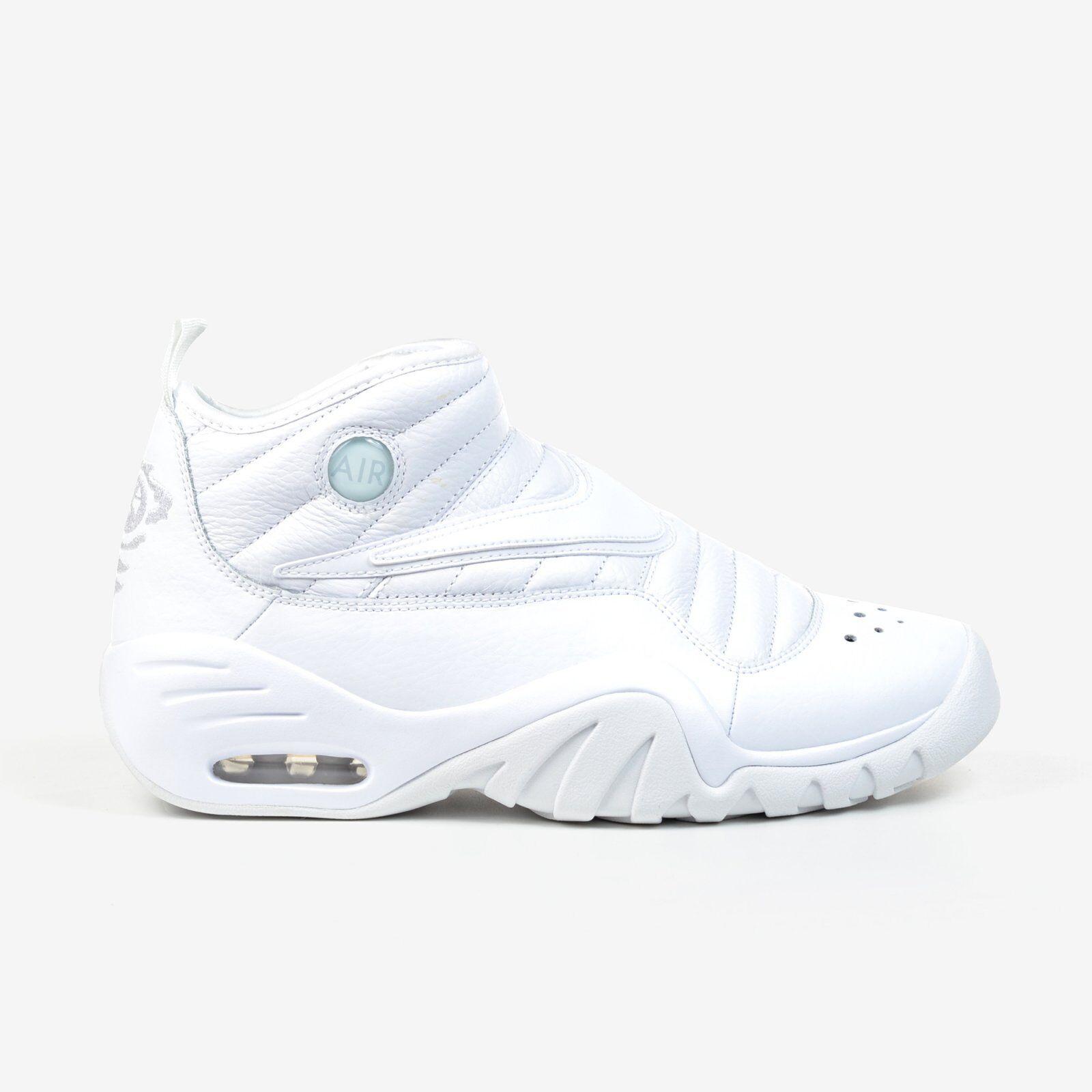 Nike Air Shake Shoes Ndstrukt White Triple White Men's Basketball Shoes Shake NIB 886869-101 94da55