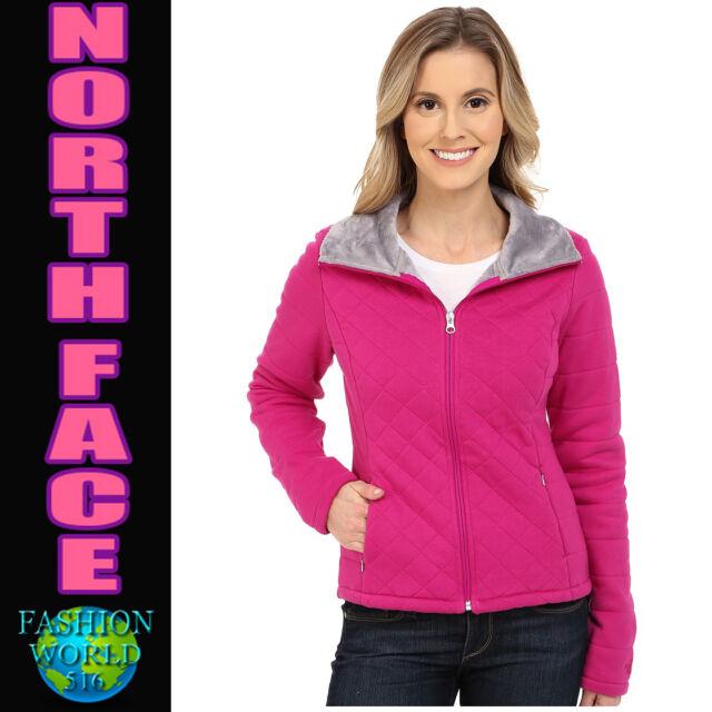dd3310a19ef791 The North Face Women s Medium Caroluna Crop Jacket Fuscia Pink Quilted Coat  NWT