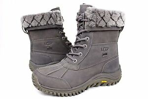 c219f25242a Ugg Adirondack II Luxe Quilt Winter Snow Grey Color Boot Size 5 US ...