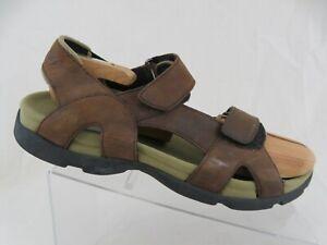 TEVA-Leather-Brown-Sz-12-Men-Waterproof-Sport-Sandals