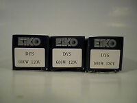 3 Eiko Advantage Dys Overhead Projector Lamps Blubs 120v 600w Photo Dyv Bhc