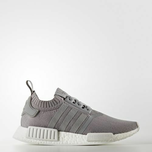Femme Adidas BY8762 NMD R1 PK Chaussures de running baskets gris blanc