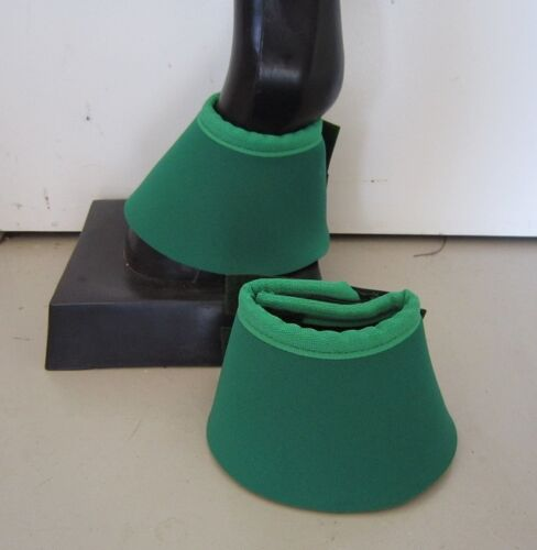 Horse Bell or overreach Boots Dark Green & Emerald  AUSTRALIAN MADE Protection