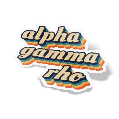 Alpha Gamma Rho 70/'s Decal Sticker Outside Car//Computer
