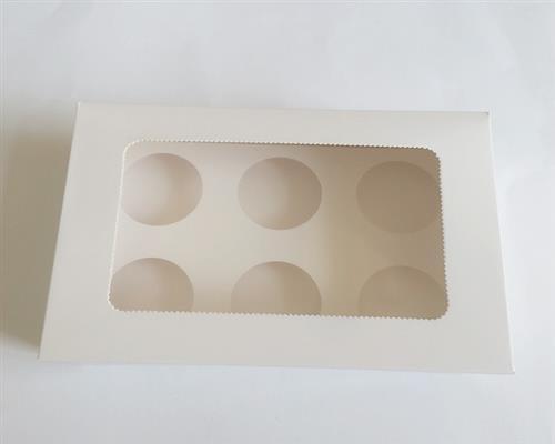 25 Stk Cupcake Muffin Box 6er Cup Aufbewahrungsbox Geschenkbox Karton Verpackung