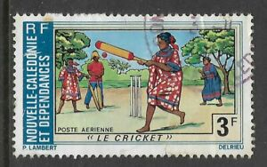NEW-CALEDONIA-1975-TOURISM-CRICKET-MATCH-1-Value-USED-Space-Filler-No-5