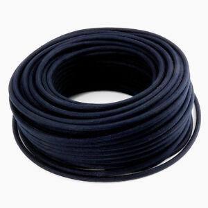 Textilkabel-Leitung-Faser-umflochten-rund-Abaca-Schwarz-Anthrazit-3x0-75