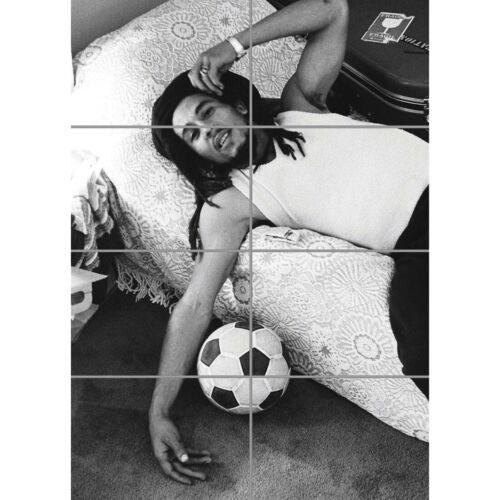 Bob Marley Jamaica Reggae Relax Football Soccer Wall Art Poster 33X47 Inches