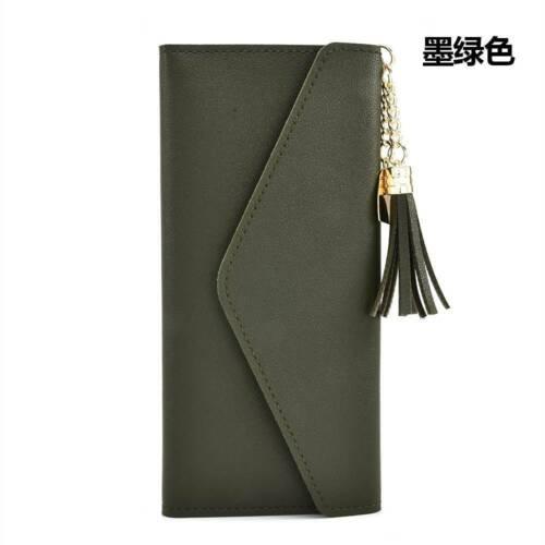 Women Leather Mini Tassel Wallet Card Holder Clutch Coin Purse Handbag Purse Bag