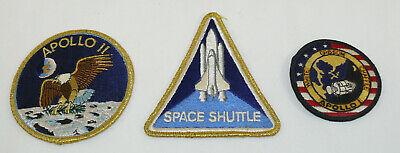 Historical Memorabilia Humor Lot 3 Vintage Nasa Apollo I Apollo Ii Space Shuttle Iron On Patches Collectibles Fragrant Aroma