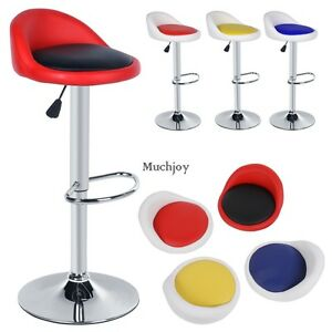 2 st ck homdox barhocker mit lehne stuhl kunstleder drehbar barstuhl 4 farben ebay. Black Bedroom Furniture Sets. Home Design Ideas