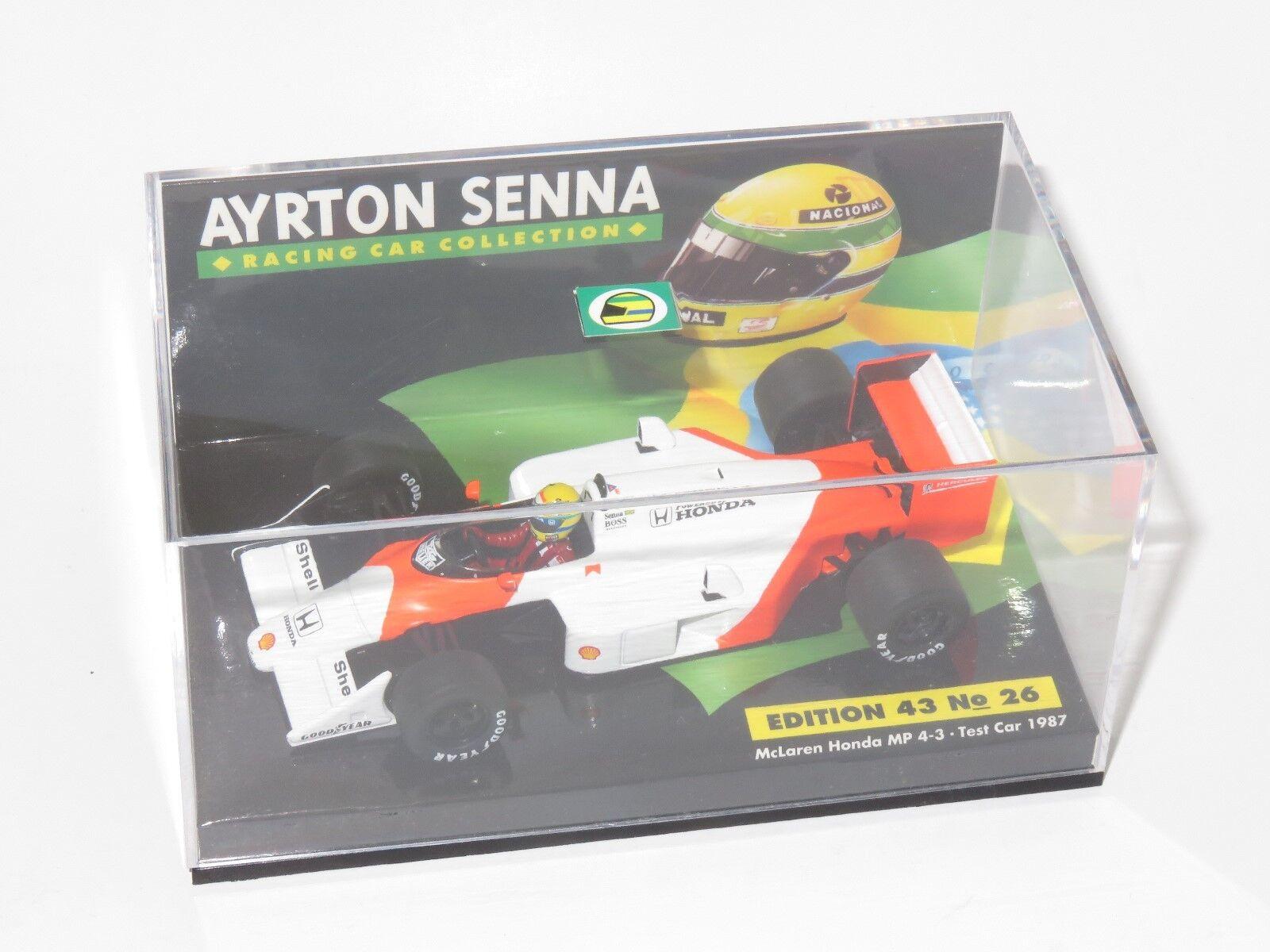 1/43 McLaren Honda MP4-3 Test Coche 2018 Ayrton Senna Senna Collection No.26