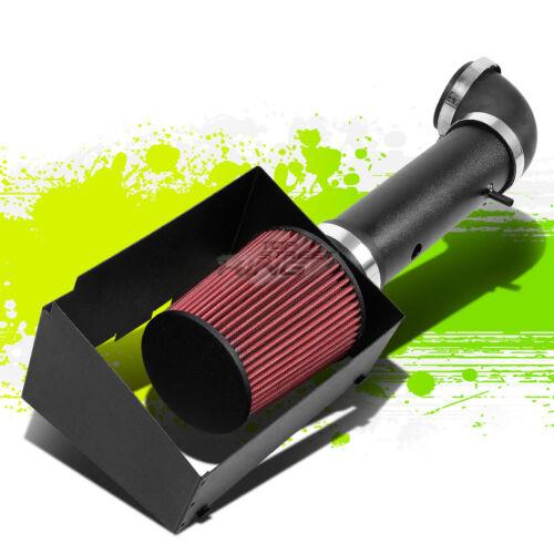 BLACK COLD AIR INTAKE PIPE/&HEAT SHIELD FOR 05-10 GRAND CHEROKEE WK SRT-8 6.1 V8