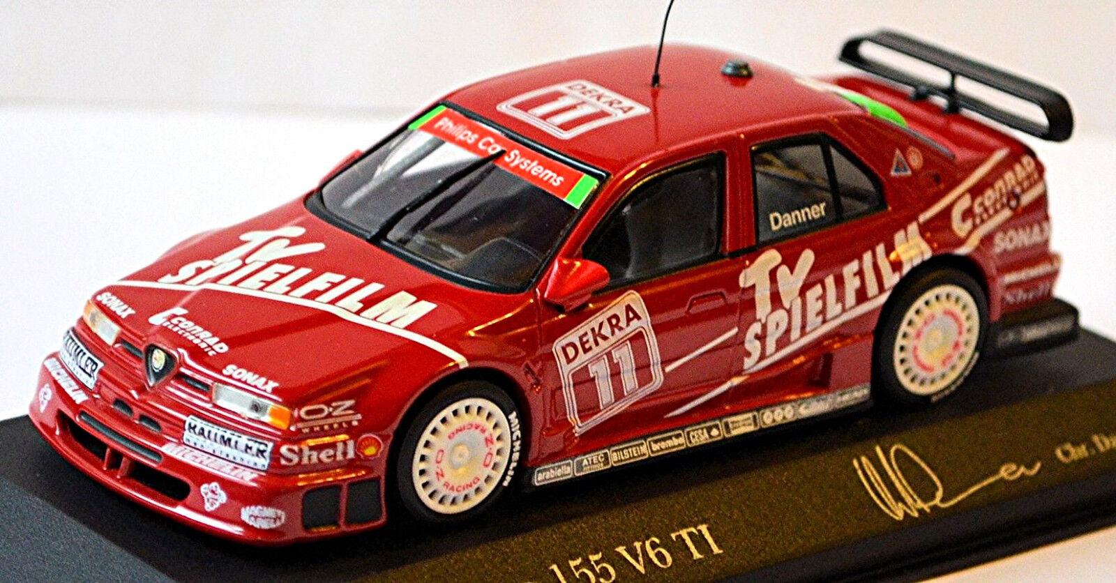 Alfa Romeo 155 V6 TI DTM 1994 Danner TV Spielfilm 1 43 Minichamps