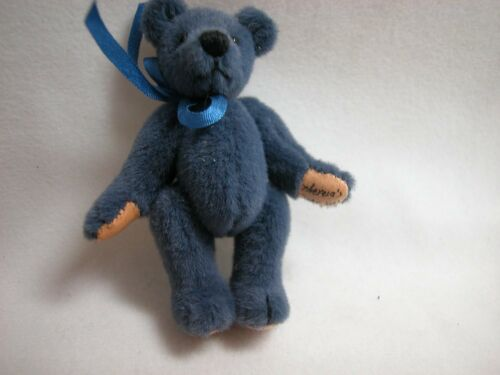"World of Miniature Bears 2.5/""Plush Bear Navy #318 Collectible Miniature Bear"