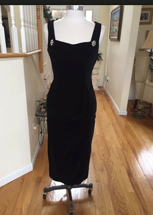 Guess Woman Cocktail Dress Black Size 7 With Stone Bottom
