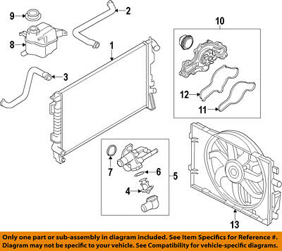 FORD OEM-Engine Coolant Thermostat 1X4Z8575EB