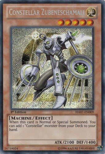 HA07-EN009 YuGiOh Constellar Zubeneschamali Secret Rare 1st Near Mint
