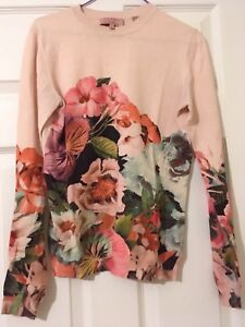 Size Floral Baker Ted 1 Coral Uk 8 Jumper Peach 7qH7wXnFz