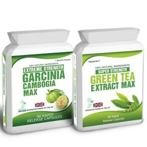 90 Garcinia Cambogia Green Tea Extract Plus Free Weight Loss
